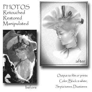 before and after of antique photo